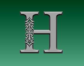3D printable model letter H