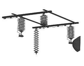 Ceiling Rail System 3D Model