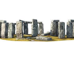 Stonehenge 3D model low-poly