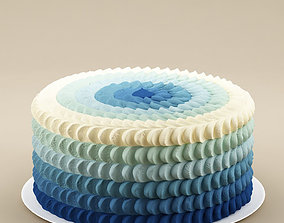 3D Cake 26 Cake with waves