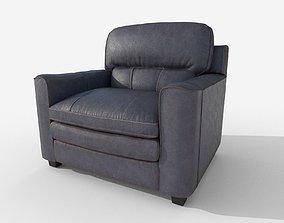 Armchair Gleason Ottoman sofa 3D asset