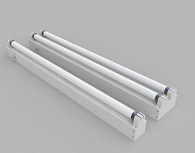3D Strip Fluorescent Fixture Single and Dual