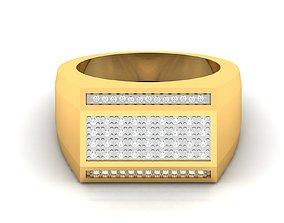 jewellery Men groom solitaire ring 3dm render detail