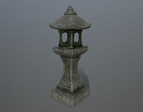 Stone lantern 3D asset VR / AR ready