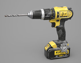 3D asset Game Ready Electric Drill