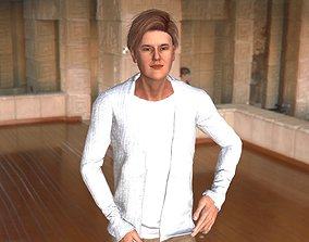 Justin Bieber 3D model animated game-ready