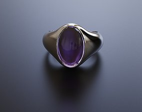 3D printable model Bezel ring for a cabochon gem 15x10mm