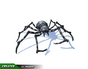 animated Low-Poly Spider Rigged Animated 3d model