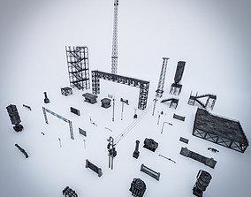 INDUSTRIAL SCIFI PROPS PACK - 47 OBJECT 3D asset