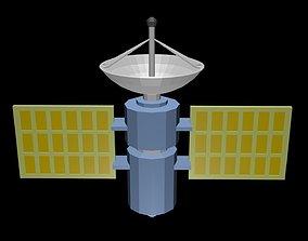 Low poly satellite 2 3D asset