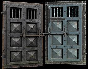 medieval Prison Metal Door 3D asset