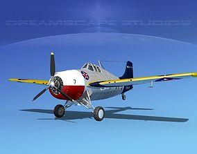 Grumman F4F-3 Wildcat V06 3D model