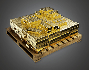 3D model Bank Gold Stack BHE - PBR Game Ready