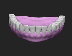 3D model Eyes Teeth and Tongue