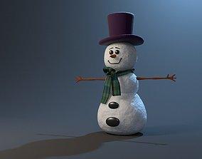 3D model rigged SnowMan