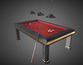 Luxury Pool Table 3D asset
