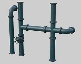 Industrial Pipes 1B 3D model