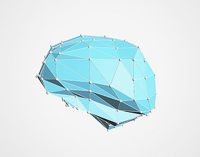 Low-Poly Brain and neural network 3D model