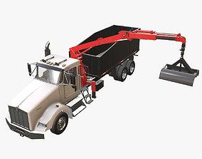 Kenworth T800 Grapple Truck 3D model