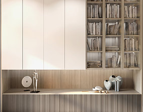 3D Wardrobe with decor and books