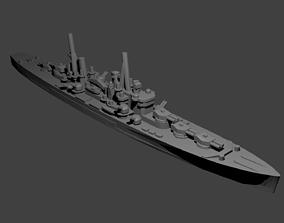 British Minotaur Class Cruiser Warship 3D printable model