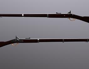 Low-poly ParkeHale Musket 3D model