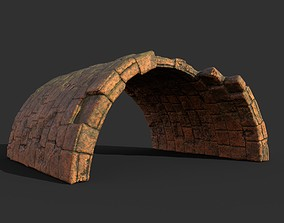 Low poly Terracotta Ruin Medieval Construction 15 3D asset