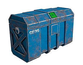 Sci-fi Container 3D model game-ready