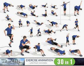 Exercise Animations Bundle 3D model