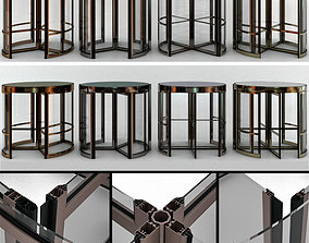 loft Revolving entrance doors 3D model