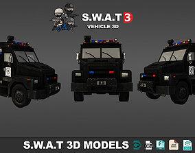 Swat Truck Vehicle 3d models low VR / AR ready