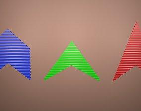 3D asset Low poly arrow 56