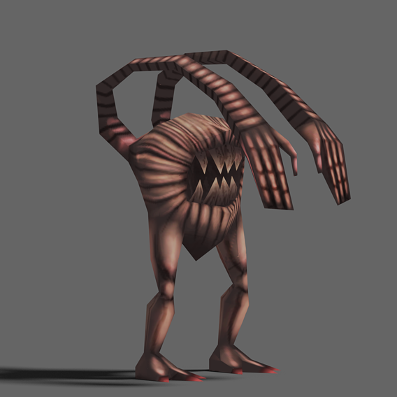 Game Character Lwpoly Creature (Hand-Paint)