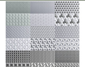 3D asset Wall panel 10 pieces