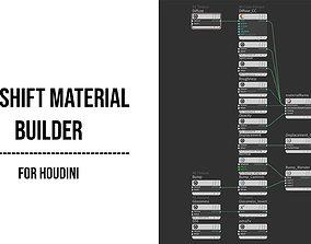 script Redshift Material Builder for Houdini 3D model