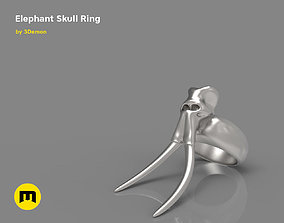 3D printable model Elephant Skull and Ring