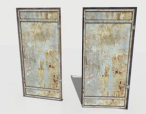 3D model Rusty Metal Door 4