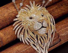 pendant lion 3D print model 3D model