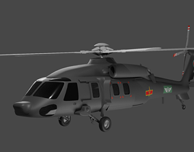 aircraft Harbin Z-20 - The Chinese Black Hawk 3D model
