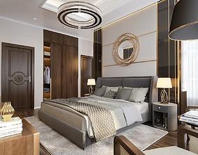 3D model Bedroom luxury bedroom-modern