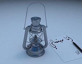 Oil Lamp 3D Model oil