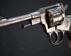 3D model PBR Russian Nagant M1895 Revolver