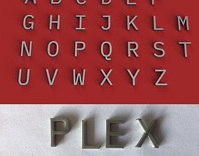 PLEX uppercase and lowercase 3D Letters STL FILE