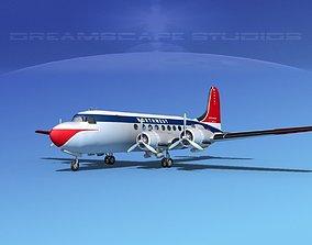 Douglas DC-4 Northwest Airlines 3D model