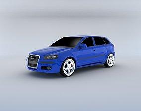 3D Audi A3 Sportback 2004