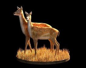 VR / AR ready Deer 3d model raindeer
