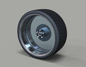3D model Clear car wheel