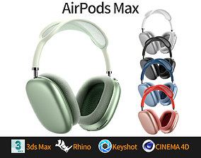 Apple AirPods Max 3D model - Rhino modeling