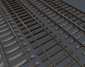 3D model Railway Track PBR