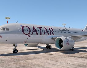 QATAR AIRLINES A320 NEO 3D model